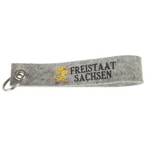 Filz-Schlüsselanhänger mit Stick Freistaat Sachsen