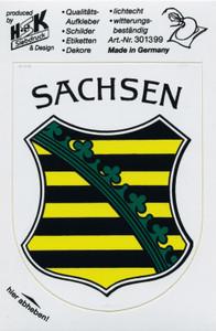 """Stick Emblem Applikation Wappen PVC-Aufkleber """"SACHSEN-Wappen"""""""