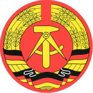 Aufkleber - DDR Wappen -  Gr. ca. 4 cm