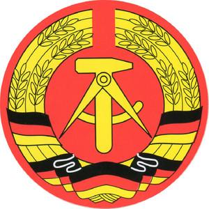 Aufkleber - DDR Wappen -Gr. ca. 8 cm