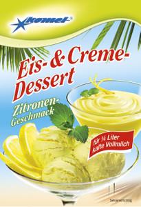 Eis- & Creme-Dessert Zitronen-Geschmack