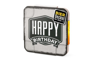 6er Bierdeckel Happy Birthday