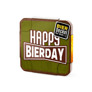 6er Bierdeckel Happy Bierday