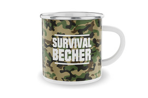 Emaillebecher Survival Becher