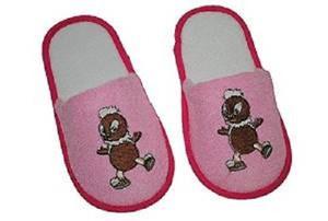 Pantoffeln Pitty weiß/pink Gr. 29/30