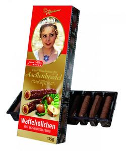 """Vollmilch-Waffelröllchen """"Drei Haselnüsse..."""