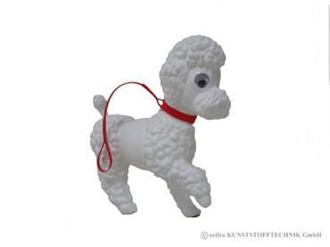 Pudel Flocky weiß