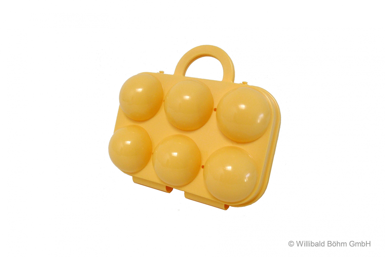 Eierträger 6-fach pastellgelb