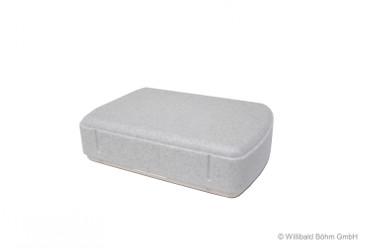Brotdose rechteck. granit-weiß