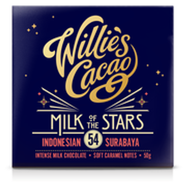Willie´s Cacao - Milk of the Stars 54% Milk of the Stars 54% - Tafel
