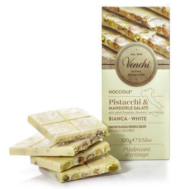 Venchi - Tafel - Nocciole Pistacchi & Mandorle Salate bianca