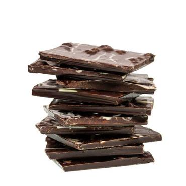 Bruchschokolade-Belg. Zartbitter mit Espressobohnen und Weißer Schokolade