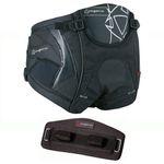 Mystic Star Windsurf Seat Harness Black/Silver + Spreader Cover Sitztrapez Mystic