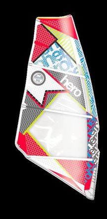Hero white red C3 Windsurf Segel North Sail 2015