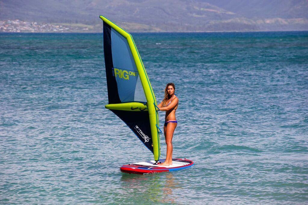 IRIG ONE Gr. S M L aufblasbares Windsurf Segel 2 Wochen Miete Arrows