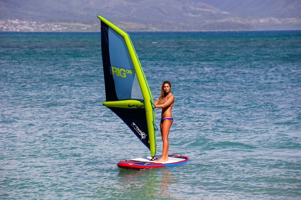 IRIG ONE Gr. S M L aufblasbares Windsurf Segel 1 Woche Miete Arrows