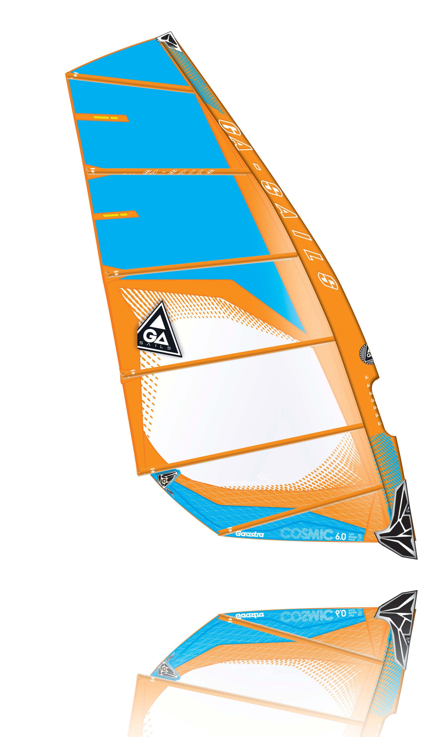 Cosmic C2 orange blue Windsurf Segel Ga Gaastra 2015