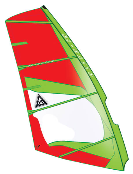 Cosmic C10 green red Windsurf Segel Ga Gaastra 2015