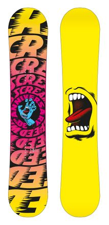 Screaming Hand 30th yellow Snowboard Santa Cruz 2017