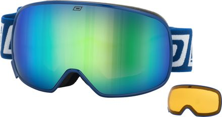 Mutant 0.5 JNR Dirty Dog Goggle Rahmenfarbe - Glasfarbe: Navy - Grey/Green Fusion Mirror & Yellow