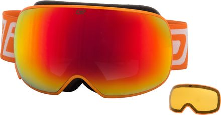 Mutant 2.0 Dirty Dog Goggle Rahmenfarbe - Glasfarbe: Orange - Grey/Red Fusion Mirror & Yellow