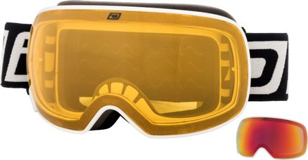 Mutant 2.0 Dirty Dog Goggle Rahmenfarbe - Glasfarbe: White - Grey/Red Fusion Mirror & Yellow