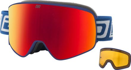 Mutant Legacy Dirty Dog Goggle Rahmenfarbe - Glasfarbe: Matt Navy - Grey/Red Fusion Mirror & Yellow