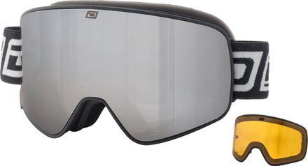 Mutant Legacy Dirty Dog Goggle Rahmenfarbe - Glasfarbe: Matt Black - Grey/Silver Mirror & Yellow