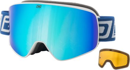 Mutant Legacy Dirty Dog Goggle Rahmenfarbe - Glasfarbe: White - Grey/Blue Mirror & Yellow
