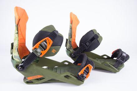 Team camo VSSL Snowboardbindung Nitro 2018 gebraucht