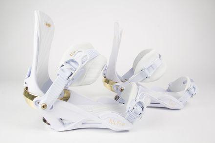 Ivy white wedding Snowboardbindung Nitro 2018 gebraucht