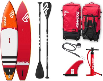SUP Set Board und Paddel Ray Air Premium Fanatic 2018