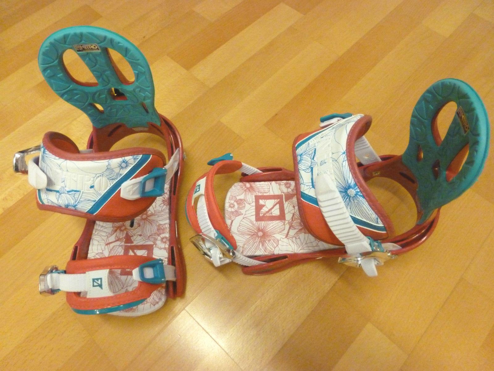 Rythm rubin Snowboard Bindung Damen Nitro 2014 gerbaucht