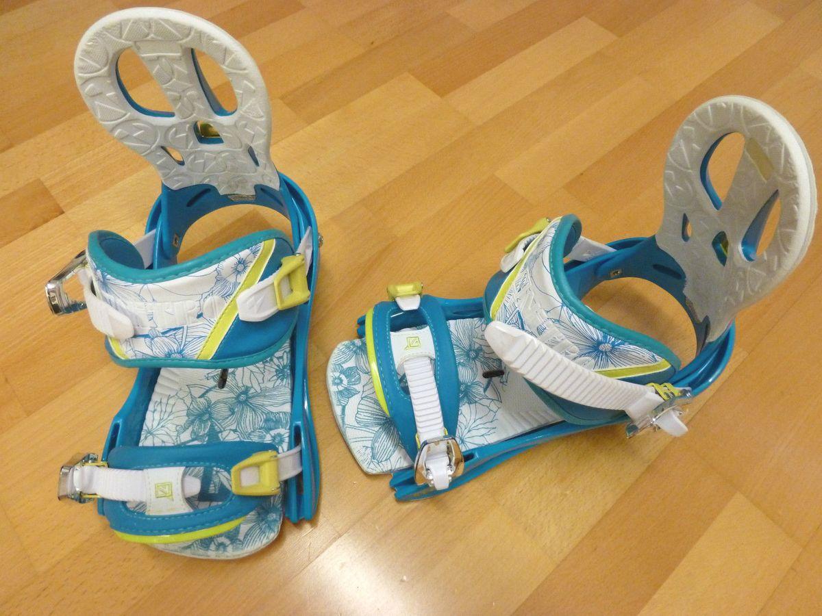 Rythm blue Snowboard Bindung Damen Nitro 2014 gebraucht