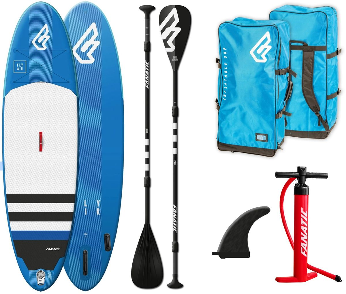 SUP Set Fly Air Fanatic Board und Paddel 2019