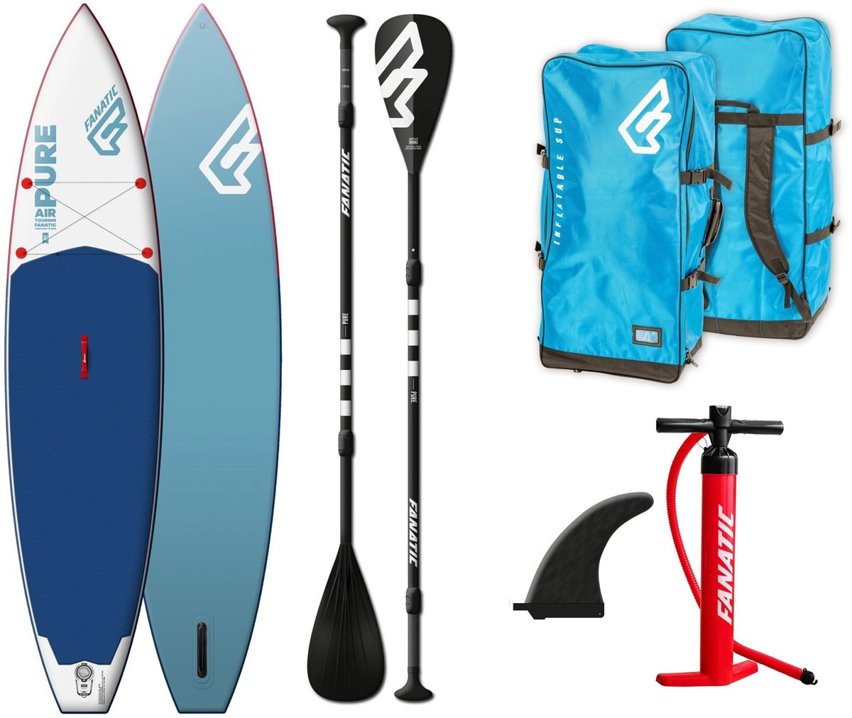 SUP Set Board und Paddel Pure Air Touring Fanatic 2019