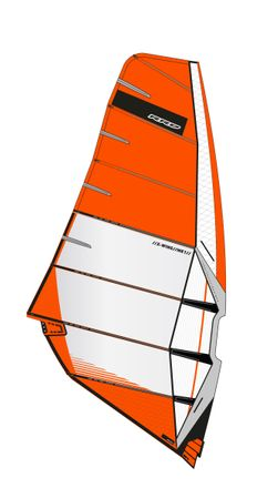 X-Wing MK1 Orange Windsurf Segel RRD 2019