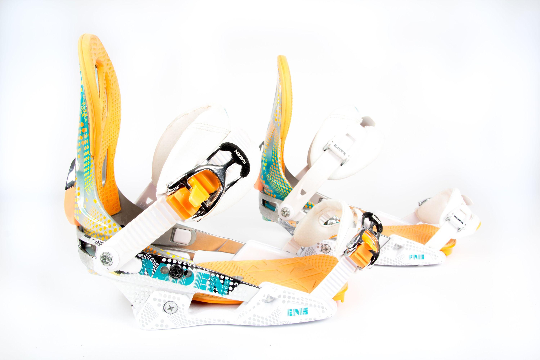 Eris white orange Snowboard Bindung Damen Nitro gebraucht