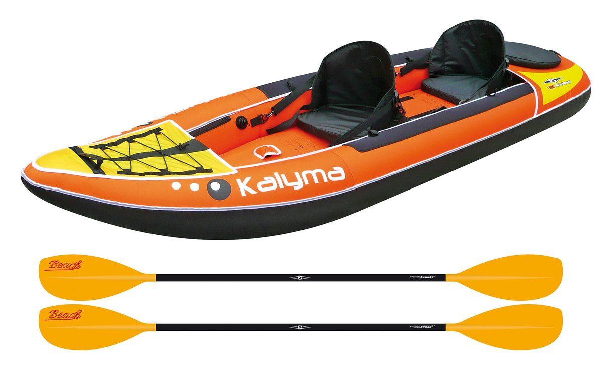 Kalyma Duo inkl 2 Paddel aufblasbar Kajak BIC