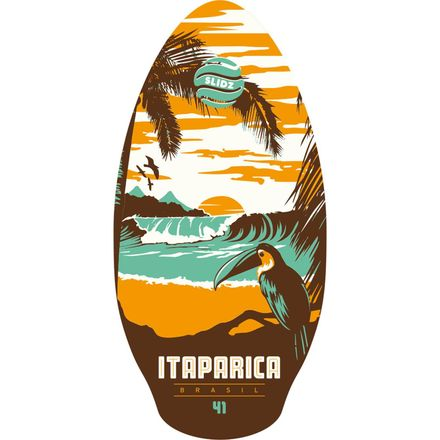 Itaparica Orange-Aqua Skimboard SLIDZ