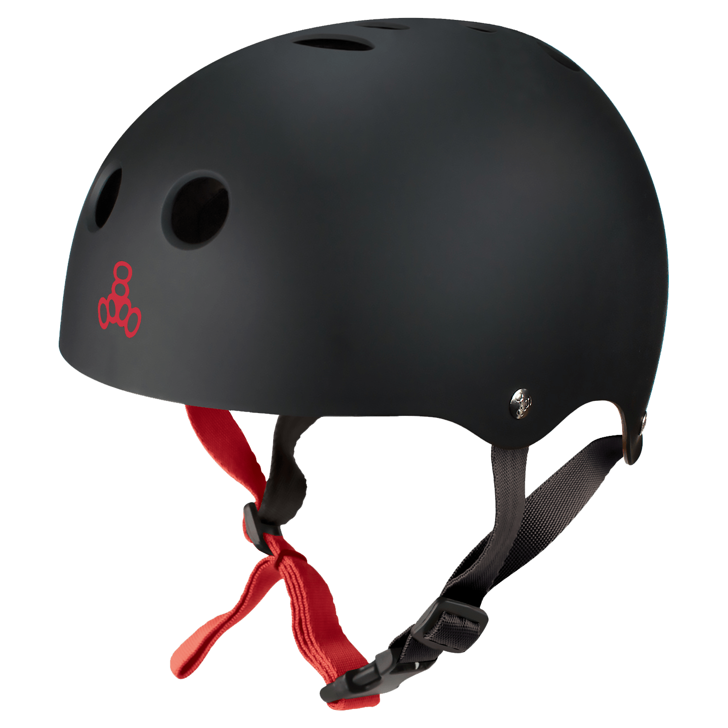 Halo Rubber Black Wakeboard Helm Triple 8