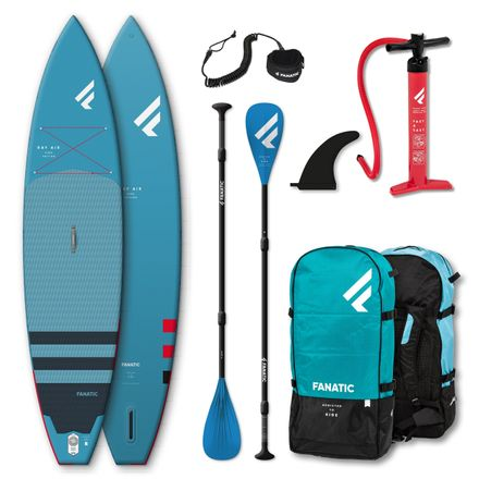SUP Set Ray Air Board Pure Paddel und Leash Fanatic 2020