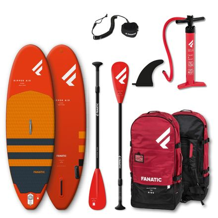 SUP Set Ripper Air Board, Ripper Pure Paddel und Leash für Kinder Fanatic 2020