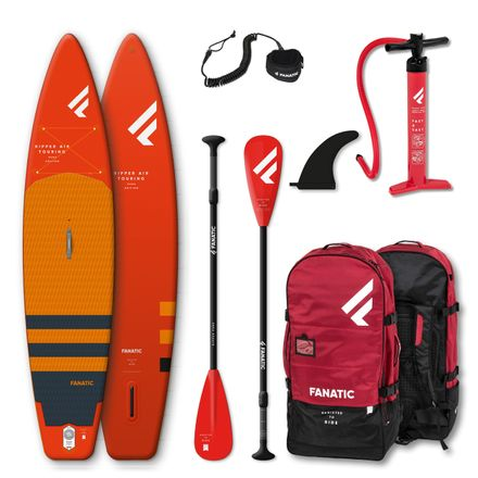 SUP Set Ripper Air Touring Board, Ripper Pure Paddel und Leash für Kinder Fanatic 2020