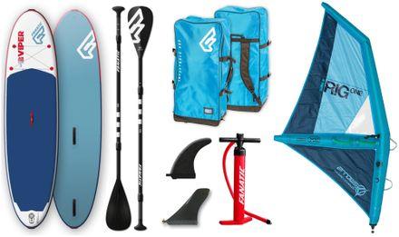 SUP Set Viper Air Windsurf Pure Board + Paddel + IRig aufblasbar Fanatic 2019