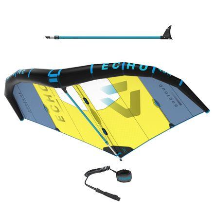 Set Foil Wing Echo C2 blue yellow + Boom + Leash Duotone 2020