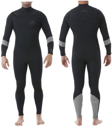 X1 GBS 5/4mm Fullsuit Grey Heather Neoprenanzug Jetpilot 2020