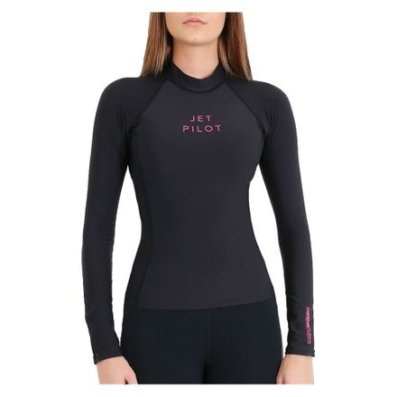 X1 1.5mm L/S Therma Fleece Rashie wms. Black Damen Jetpilot 2020