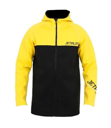 Flight Hooded Tour Coat Yellow Neopren Jacke Jetpilot 2020