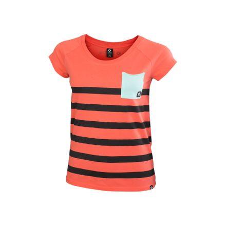 Tee SS Pocket WMS hot coral T-Shirt Duotone 2020